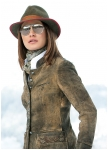 Womans dearskin-longjacket Dina from Meindl