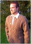 Mens jacket Peter hand knitted.