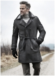 Pale lambskin parka from Meindl