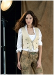 Short leather trousers Auerhahn for women.