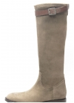 High boots made of stretch Velour leather Dirndl und Bua