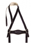 Suspender made of goat leather in the colour goat B-black.