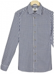 Two-coloured checked shirt Tizian