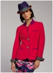 Red Jacket from Geiger with sleeve patches