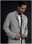 Men\'s jacket in washed knitted wool from Geiger.