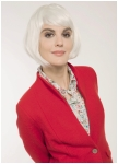 Red lapel-collar jacket from Geiger.