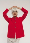 Red jacket with standup collar from Geiger.