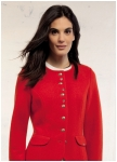 Red jacket with rounded collar from Geiger.