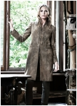 Fleur goatskin longjacket for woman from Meindl.