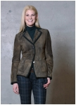 Abbey goatskin leather jacket from Meindl