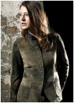 Sofia longjacket of goat leather for woman from Meindl.