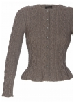 Traditional lady jacket short sleeves handknitted merinowool