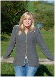 Handknitted cashmere-cardigan from Theo Huber