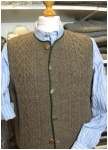 Traditionel sheep-wool vest from Theo Huber/Miesbach.