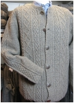 Mens jacket hand knitted.