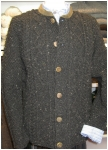 Mens sheep-wool jacket hand knitted in the bavarian forrest.