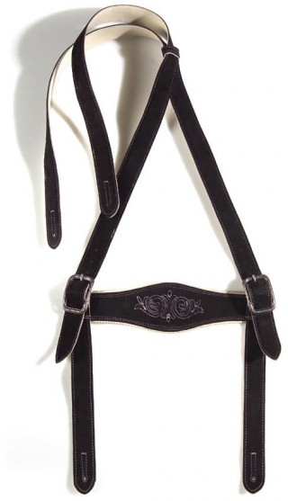 Suspenders made of red deer leather from Meindl.