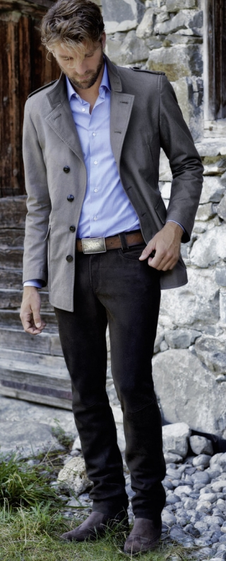 Romeo deer leather-trousers for men from Meindl.