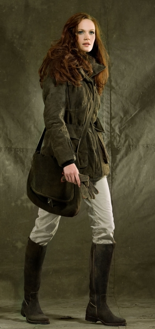 Warm down jacket with goat leather from Meindl