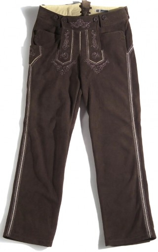 Meindls long traditional goatleather trousers.