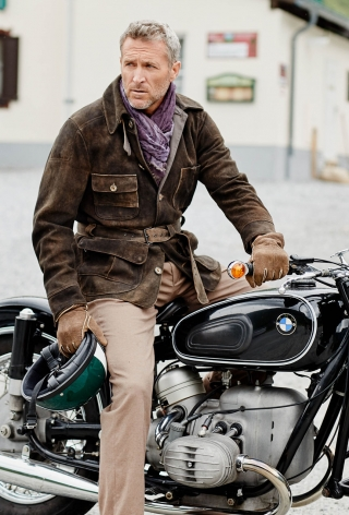 Traveller Bike deer leather  jacket made by Meindl.