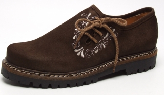 Velour leather shoe from Dirndl und Bua.