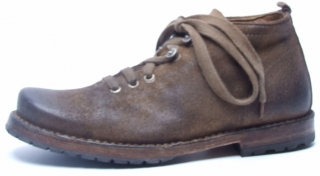 Original brown velours leather shoe for man