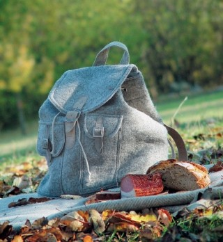 Backpack made of wool felt.