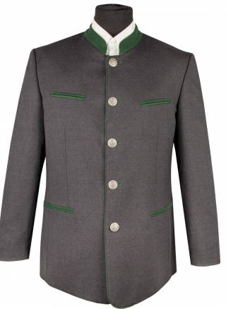 Traditional men`s jacket in anthracit from Kaiserjäger.
