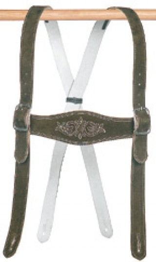 Suitable suspender for kids leather trousers.