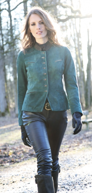 Dressy woman\'s leather jacket Jolanthe from Meindl