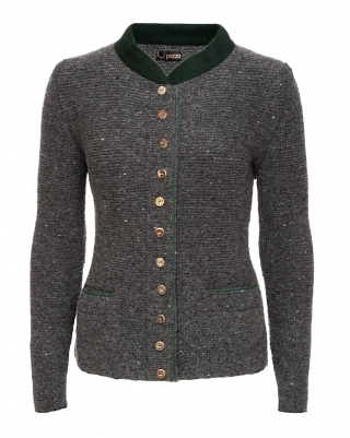 Cardigan handknitted with Loden collar from Pezzo/Bavaria