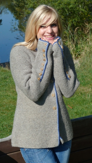 Handknitted cardigan Monika from Theo Huber