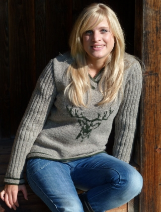Pullover with deer from Theo Huber