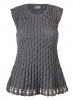 Very original hand-knitted tank top from Pezzo/Bavaria