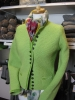 Green handknitted cardigan Gina from Theo Huber/Miesbach.
