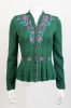Folcloric jacket handknitted, embroidered, Wolkenstricker